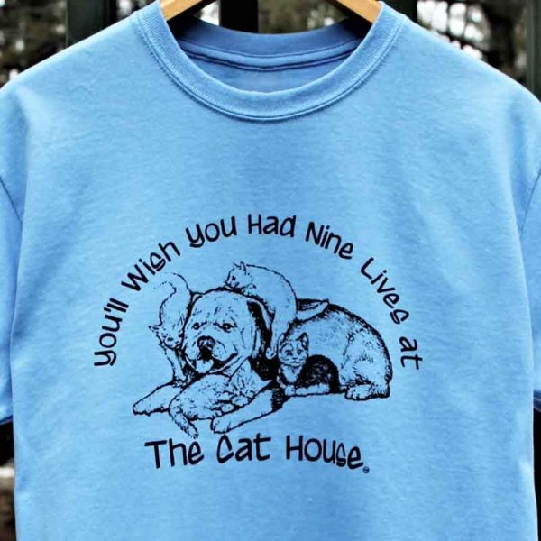 nine-lives-the-cat-house T-Shirt Made in Maine