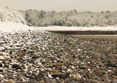 Snow Storm on The Beach