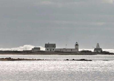 Stormy Lighthouse Cape Porpoise Kennebunkport Maine
